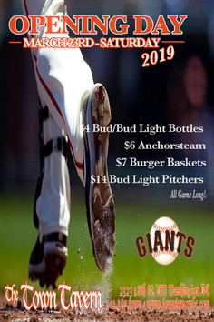 SF GIANTS OPENING DAY!!