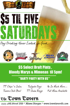 $5 TIL FIVE SATURDAYS